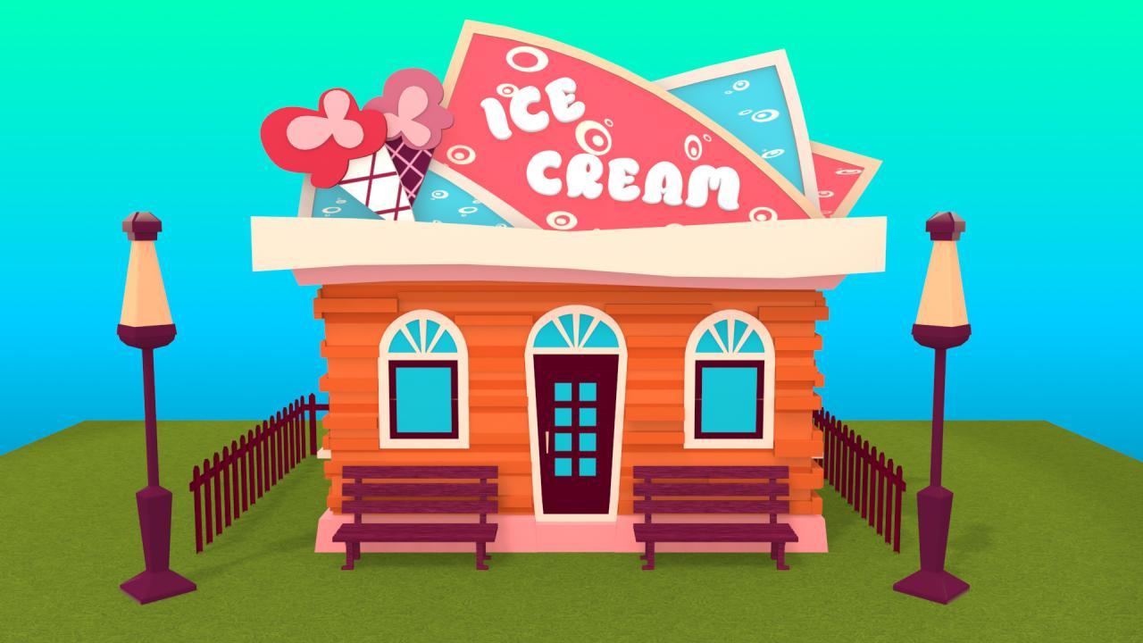 冰激凌店卡通-卡 通 冰 激 凌 店 379032787作品 作品 直线网 最专业的