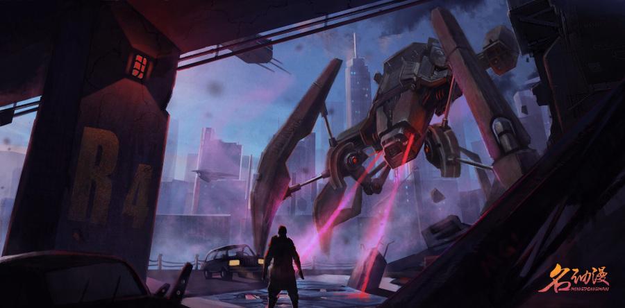 游戏美术系列之游戏原画场景|倾城设计