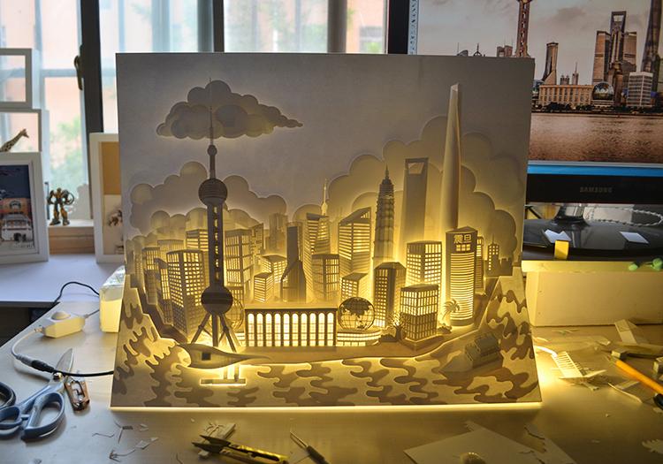 【转载作品】 【上海城市纸雕】