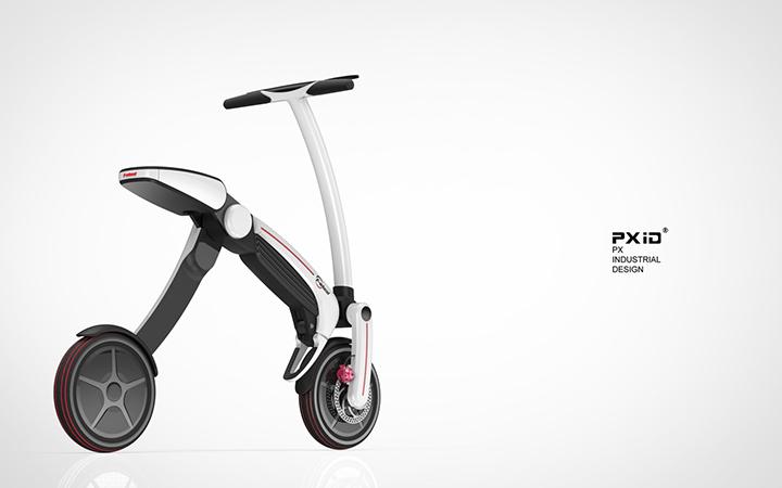 【原创】 【品向工业设计飞轮威尔折叠电动自行车】