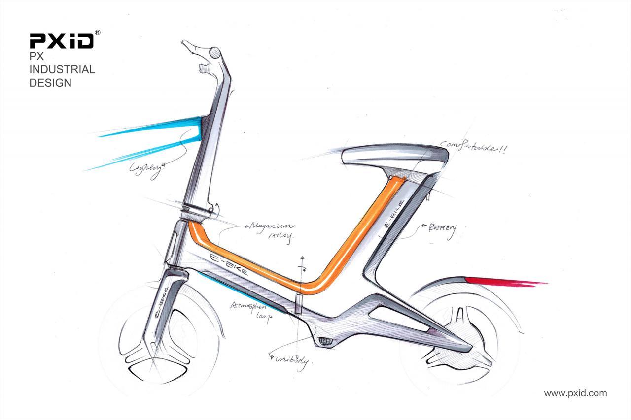 品向工业设计 电动助力车设计